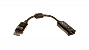 Adapter DisplayPort (M) - HDMI (F) czarny